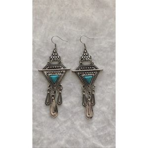 Turquoise Drop Down Earrings
